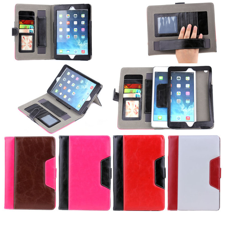 Crazy Horse Credit Card Leather For iPad Air Case With Holder