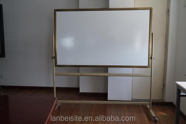 Different sizes and surface materials movable Magnetic whiteboard with stand for sale