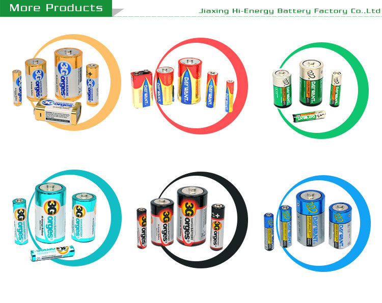 Energy Pro-Environment Low Price Dry Cell 9V 6F22 Zinc Chloride Aluminum Battery
