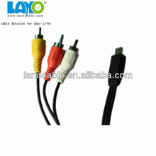 professional mini usb to rgb rca male to male cable