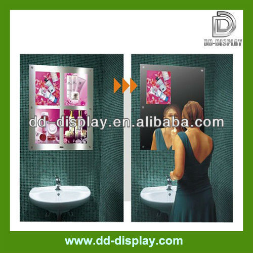 mirus restroom video advertising magic mirror