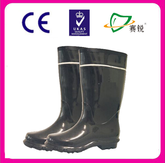 PVC safety boots and protective safety rain boots with reflective tape