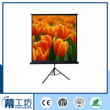 Golden supplier tripod 3d silver holographic projection screen with carry bag