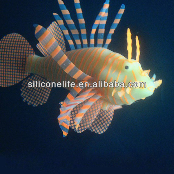 Popular novelty imitation silicone toy fish aquarium for tank