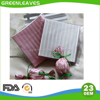 Pure 23 micron aluminum foil gold color in sheet,embossing foil wrapper for chocolate packaging