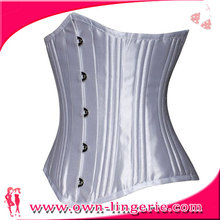 Wholesale Fat Woman Stain White 26 Steel-Breasted Underbust Corset Plus Size Corset