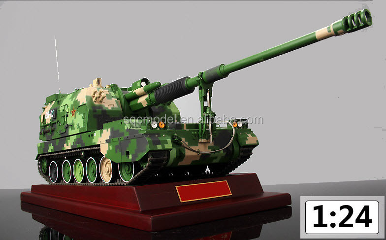 1 24 diecast model PLZ-05 gun military equipment model