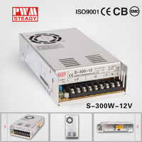 High voltage universal 110vac 220vac input 12vdc 25a 300w switching model power supply s-300w psu for cctv camera/led light/lcd