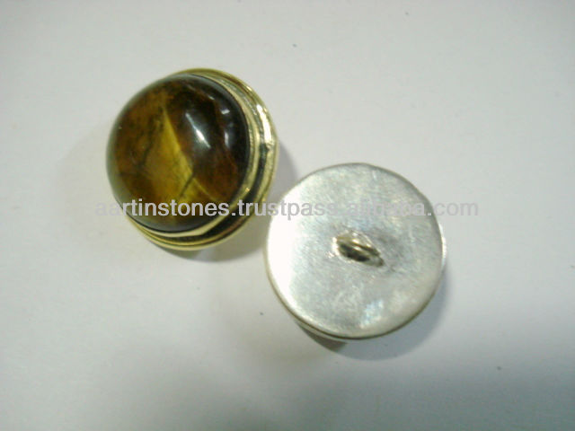 Tiger eye Gemstone Buttons