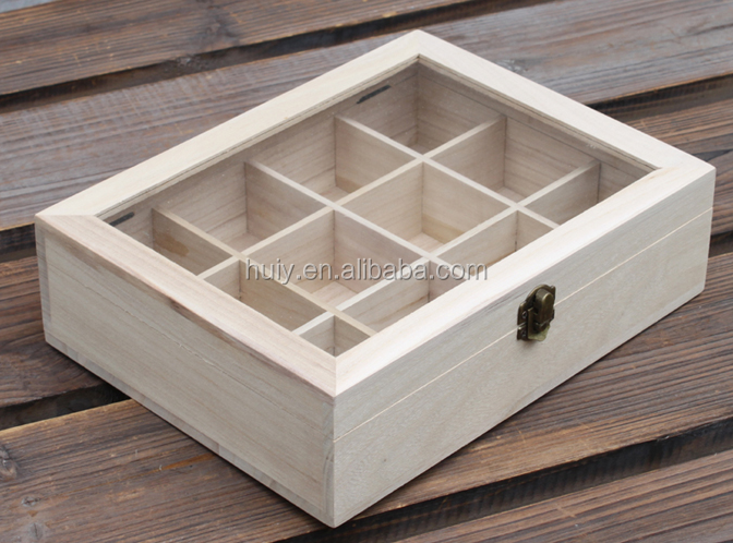 Custom made transparent lid wooden box gift boxes with for Uses for wooden boxes
