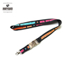 CMYK sublimation elastic lanyard with metal buckle