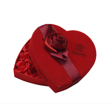 Promotion Empty Heart Shaped Paper Chocolate Box with Ribbon