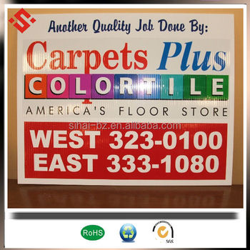 PP Corrugated Plastic Board TwinWall sign pp hollow sheet advertising board