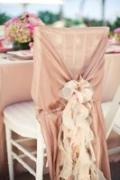 2014 hot sale elegant wholesale chiffon ruffled wedding chair covers and sashes from China