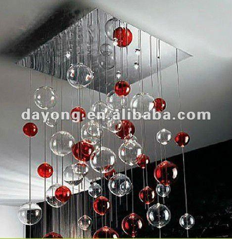 Guzhen moderna bolla di vetro luci lampadari per soggiorno ...