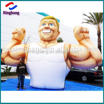 Ningbang inflatable advertising man giant pvc inflatable muscle man for sale