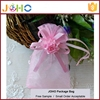 Factory Supplier Popular Design Cheap Custom organza mini tote bag with drawstring with cute flower for sale