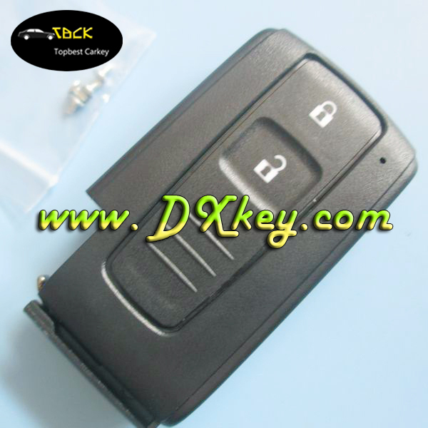 Hot products to sell online 2 buttons car key cover without emergency key blade for toyota prius key