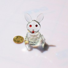 Lovely Crystal Zodiac Animal Small White Rabbit/Bunny for Easter and Decoration