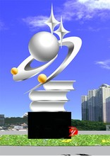 Famous Stainless Steel Pearl Sculptures with Books For School
