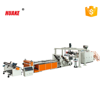 HUAKE brand chinese high quality PP PE sheet extrusion machine