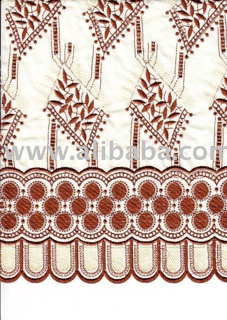 Cotton Voile or TC with Color Change Embroidery