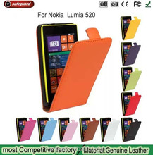 smart leather phone case for Nokia Lumia 520,Up and down Clamshell for Nokia 520