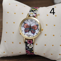 Promition Gift Butterfly Ladies Bracelet Wristwatches Wholesale Low Price Fashion Watch