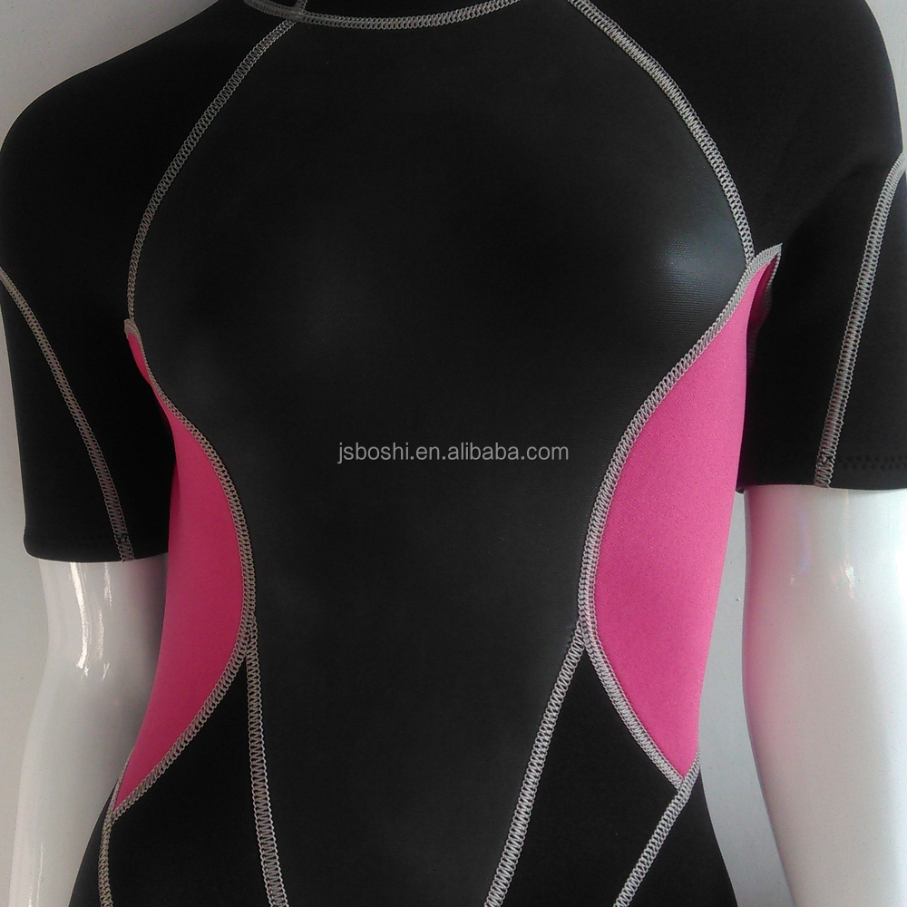 neoprene fabric diving suit girl surfing wetsuit
