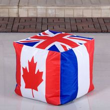 UK flag printed square bean bag ottomans bean bag chairs bulk