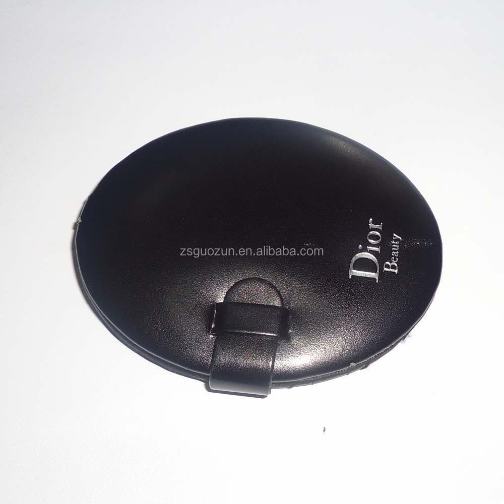 Promotional PU Leather Pocket Cosmetic Mirror With Customize Logo