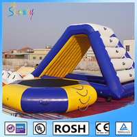 Sunway Inflatable Island And Float Water Game , Inflatable Water Slide, Inflatable Water Trampoline