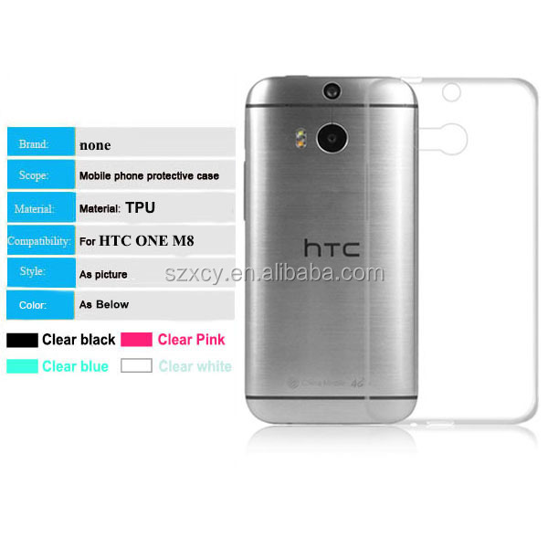 crystal clear transparent dot view cell phone case for htc one m8