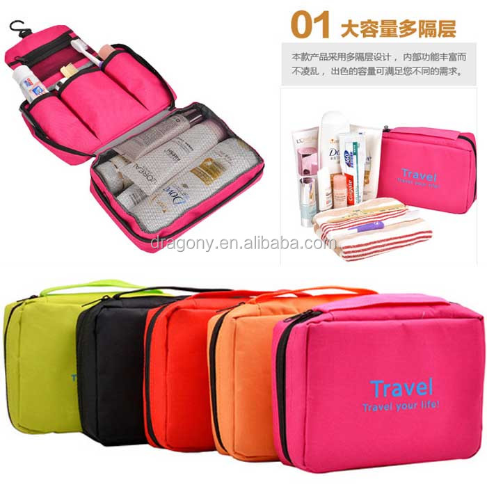 ladies multifunction fashionable portable organizer makeup hanging toiletry best travel bag