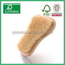 Mini wooden Foot Shaped Exfoliating Bath & Shower Skin Care Body Scrub Brush