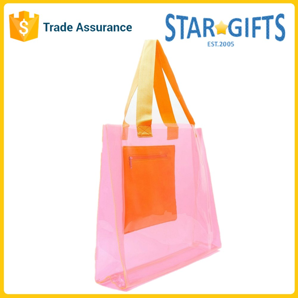 China Supplier Wholesale Factory Price Handled Cheap PVC Tote Bag For Shopping