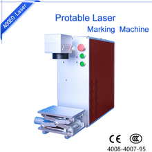 Portable mini fiber laser marking machine for LED light bulbs with rolling marking