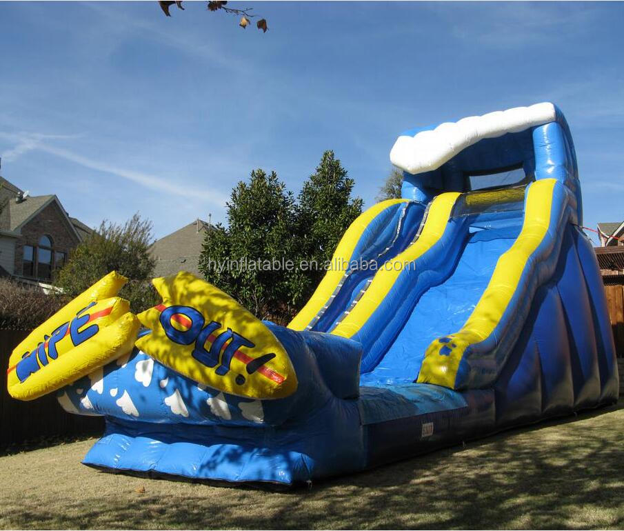 2015 best selling adult size inflatable water slides wholesale
