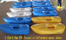 inflatable water games,competitive toys sports,0.8MM PVC tarpaulin inflatable water walking shoes with air pump