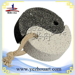 custom shape massage black pumice stone