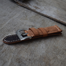 Handmade Band Suede Leather Real Leather watch strap with stainless buckle