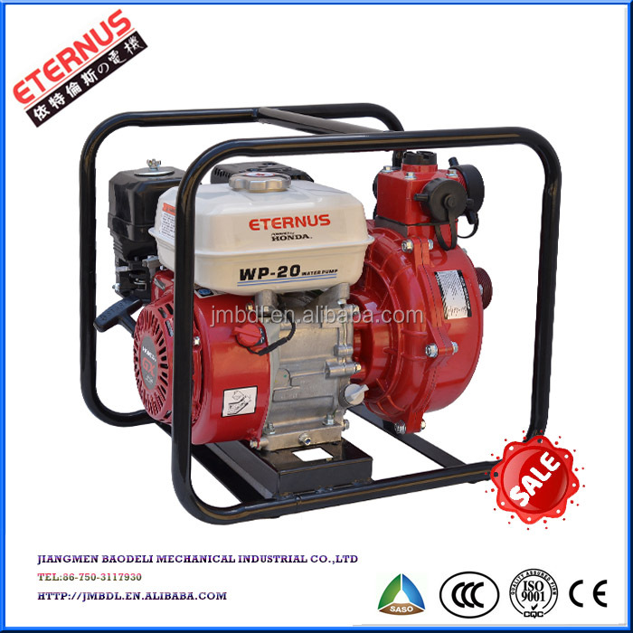 "Open-frame Three outlets 2"" gasoline High pressure pump WH20G"