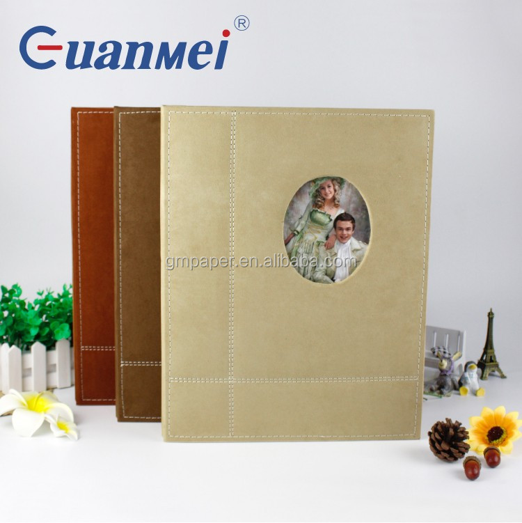 GuanMei Fabric Cover 315X420MM Wedding DIY Photo Album With Post Bound 20 White Sheets