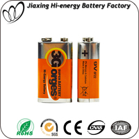 High capacity Super Heavy Duty Dry Battery carbon zinc 9v batteries