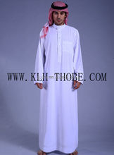 muslim fashion dress with eid Long sleeves islamic men's abaya al haramain thobe