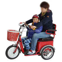 electric tricycle old people scooter/ 3 wheel battery operated vehicle for children/e-scooter with shopping basket