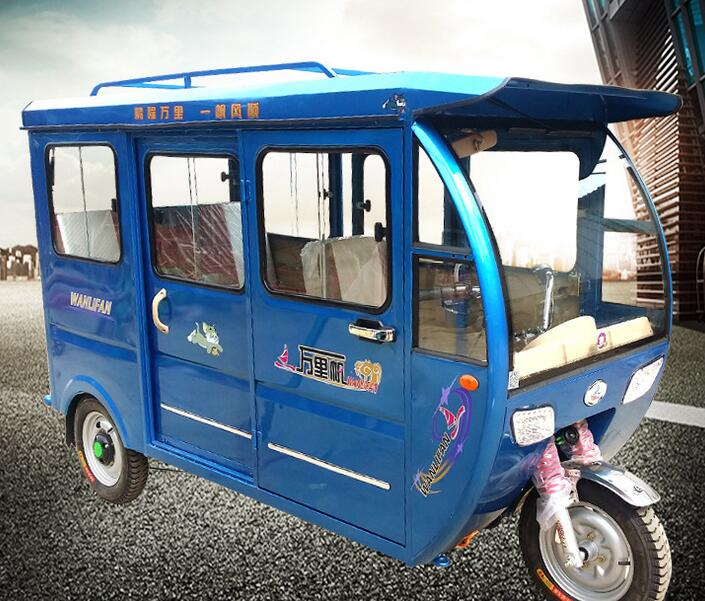 5 Seats Closed Cabin Hybrid Electric Rickshaw