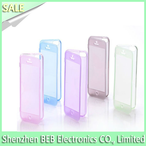 NO.1 exporting tpu for iphone4 case has front protective cover