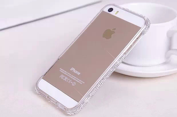Free Srceen film Fashion Bling shining crystal aluminum diamond metal hard bumper frame case cover for iPhone 5 5S 4 4S cases