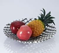 silver plated fruit serving tray for wholesale